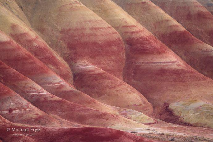 Red and white folds, Oregon badlands