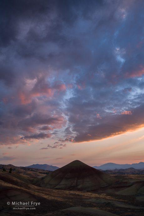 Sunset, Oregon badlands