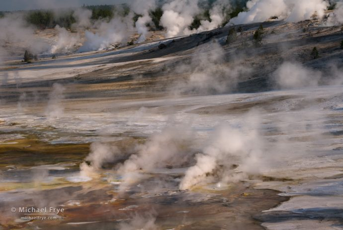 Steaming earth, Yellowstone NP, WY, USA